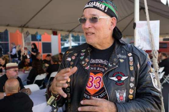 """Crazy Dave"" Mendelsohn, of Burbank, attends LoveRide for his 33rd time at the Harley Davidson of Santa Clarita, Sunday, Nov. 10, 2019. | Photo: Gilbert Bernal / The Signal."