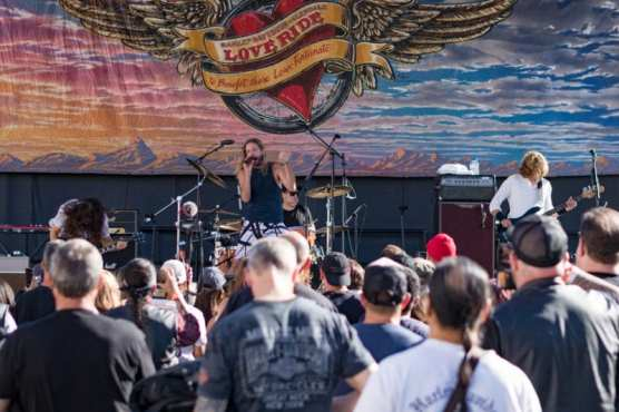 Chevy Metal, led by Taylor Hawkins performs for the audience at the 33rd LoveRide, hosted by Harley Davidson store of Santa Clarita and Glendale, Sunday, Nov. 10, 2019. | Photo: Gilbert Bernal / The Signal.
