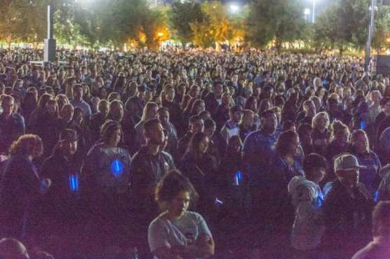 strong - Thousands gather at Central Park for the Saugus Strong Vigil Sunday night. | Photo: Cory Rubin / The Signal.