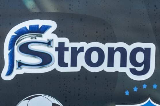 A Saugus Strong sticker on a truck shows support for those involved in the Nov. 14 shooting on campus that claimed three students' lives and injured three others, on Monday, Dec. 2, 2019. | Photo: Gilbert Bernal / The Signal.