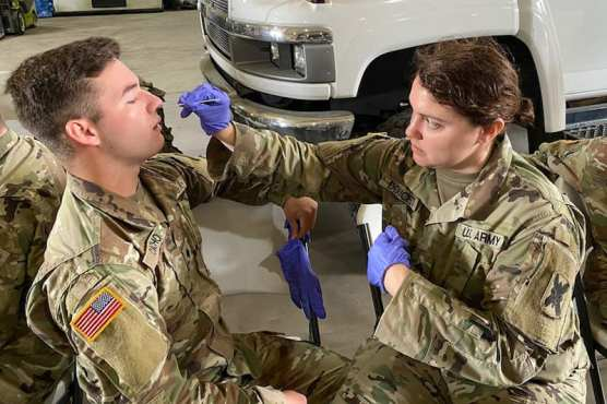 Medics with Army and Air National Guard
