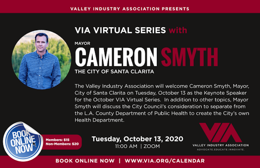Oct. 13: VIA Virtual Series with Mayor Cameron Smyth