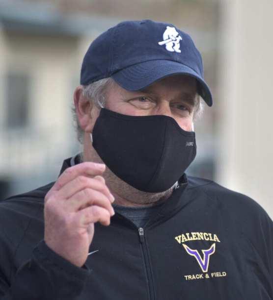 Vikings head track coach Mike Ponties