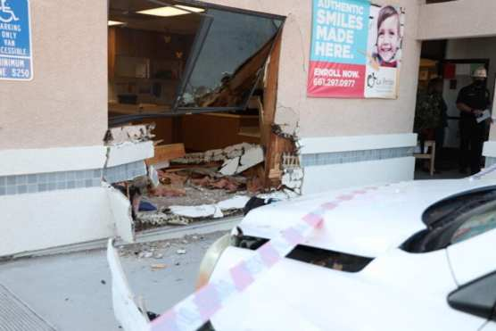 Vehicle Drives into School Building
