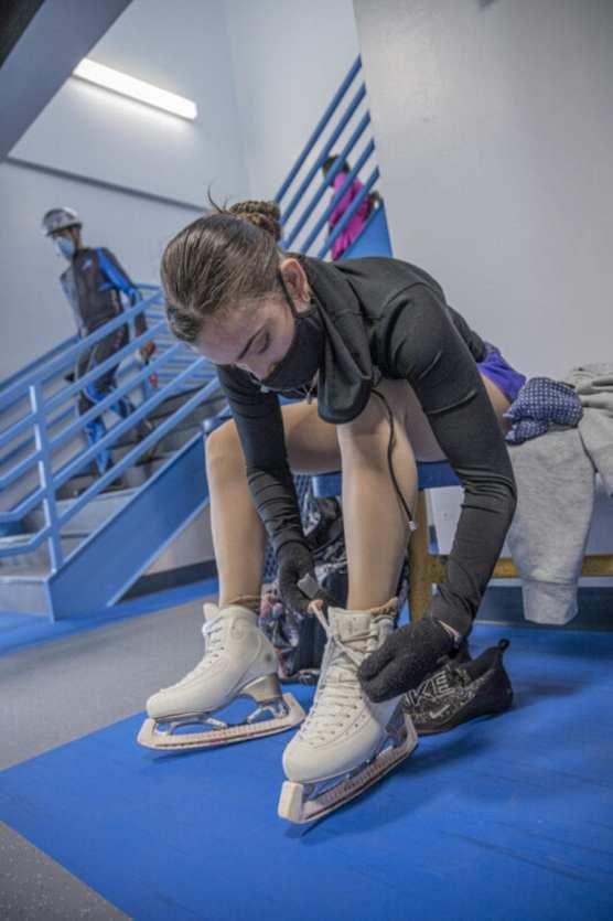 Figure skater Emma Coppess