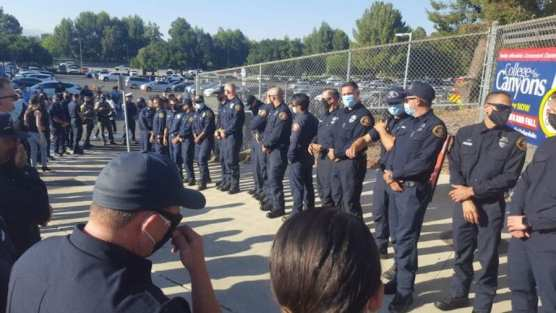 Firefighters at Saugus High Graduation
