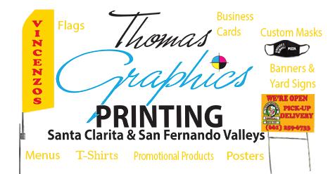 Thomas Graphics, SCV & SFV Printing  Does It All