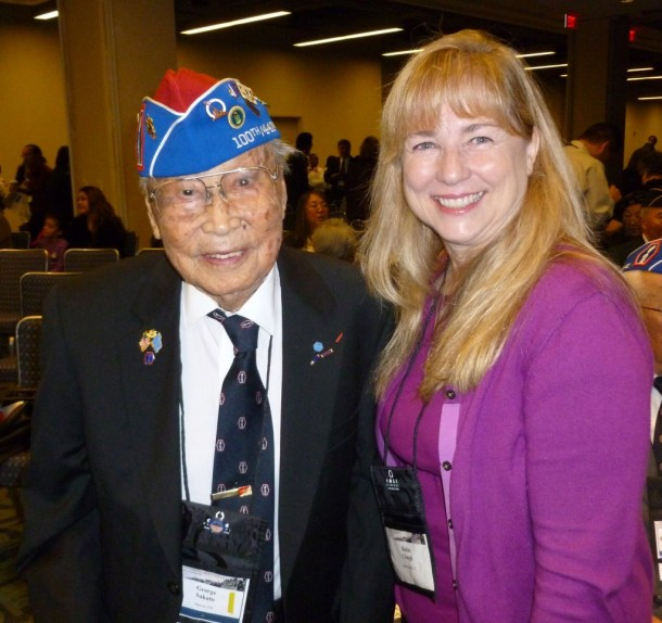 George Sakato with Robin Clough (SCV Senior Center) in Washington, D.C., November 2011.