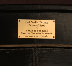 Plaque on buggy