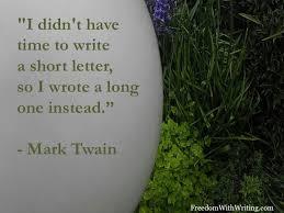 Mark Twain on length