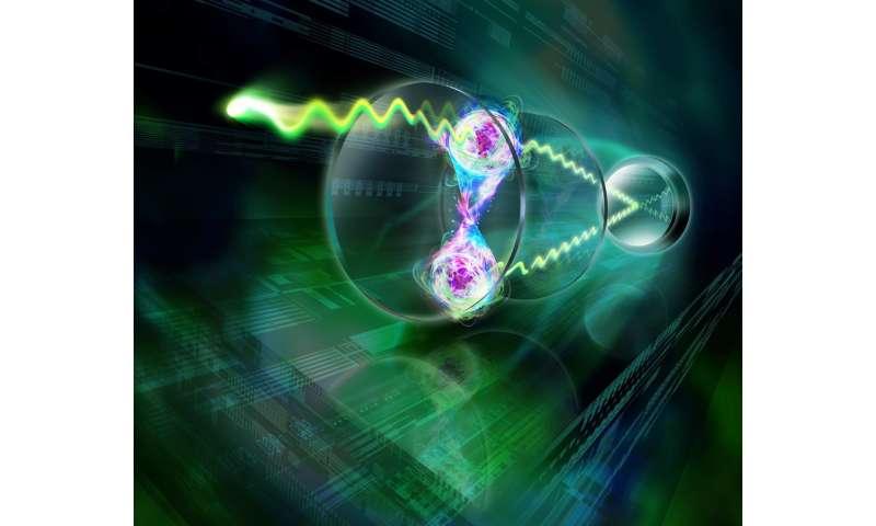 entangled atoms shine in