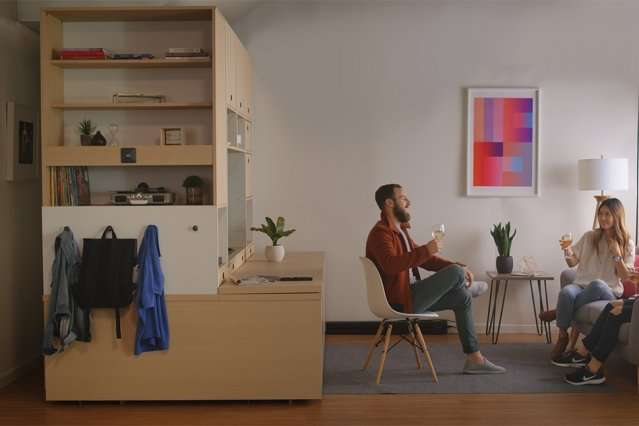 Smart Furniture Transforms Es In Tiny Apartments Into