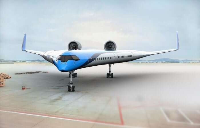 flying v plane concept
