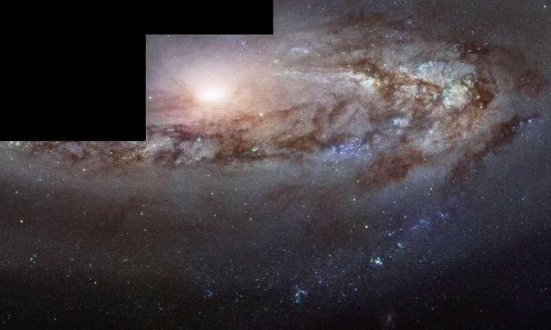 hubble spies curious galaxy