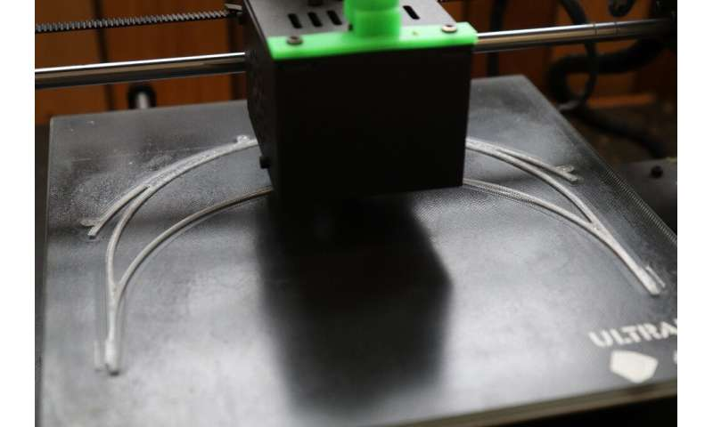 3D printers fabricate by deposing layer upon layer of material, and can be quickly reprogrammed to produce different pieces