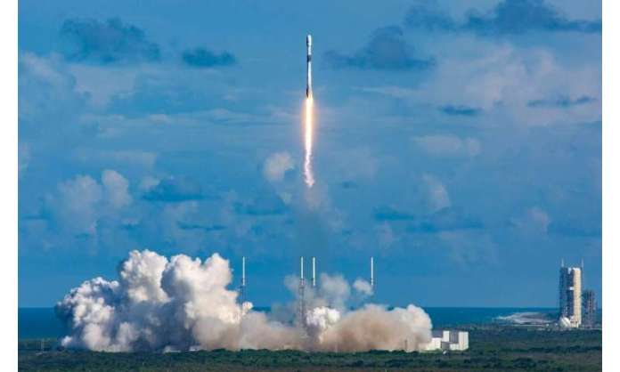 The Falcon 9 rocket carrying the  ANASIS-II satellite blasted off from Cape Canaveral Air Force Station in Florida
