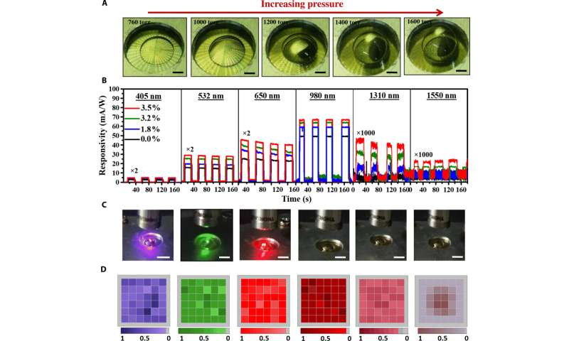 Breaking the absorption limit of silicon toward the short-wavelength infrared wavelength range via strain engineering