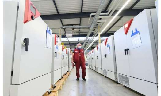 Special freezers produced by Binder provide ultra low temperatures