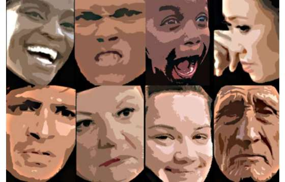 The 16 facial expressions most common in emotional situations worldwide