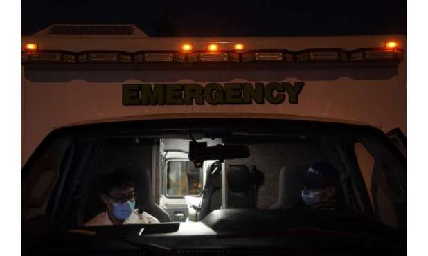 In ambulances, an unseen, unwelcome passenger: COVID-19