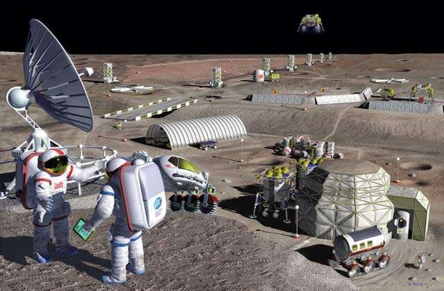 Mining water and metal from the moon at the same time