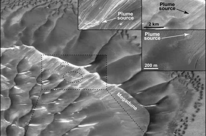 SwRI scientist captures evidence of dynamic seasonal activity on a Martian sand dune