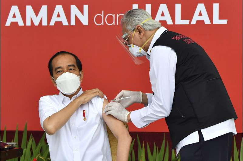 Indonesia starts mass COVID-19 vaccinations with president