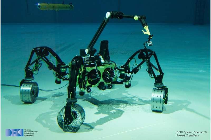 Underwater robot does not need help on the ocean floor