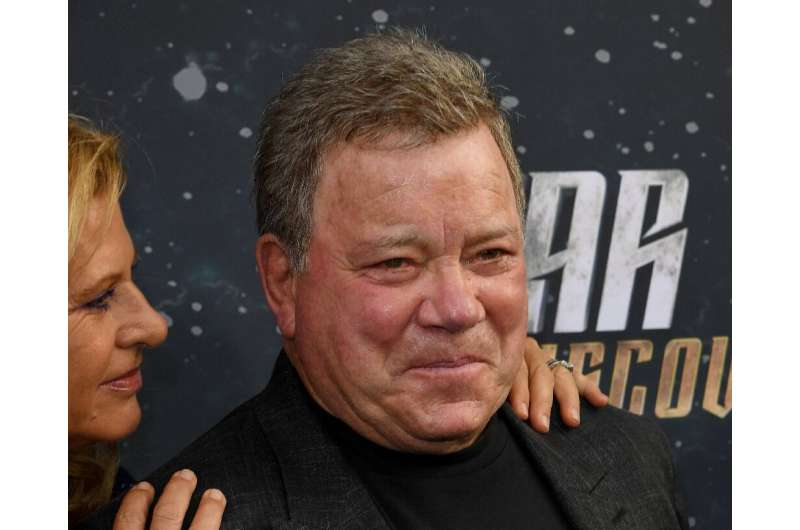 William Shatner (pictured September 2017), who played Captain James T. Kirk in the cult classic TV series