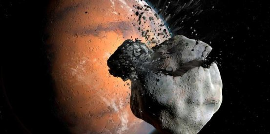 The Martian moons have a common ancestor