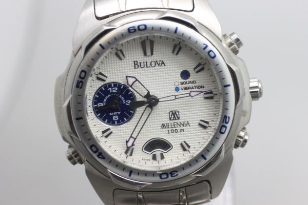 Original Bulova Millennia Quartz Wristwatch Men' Watch