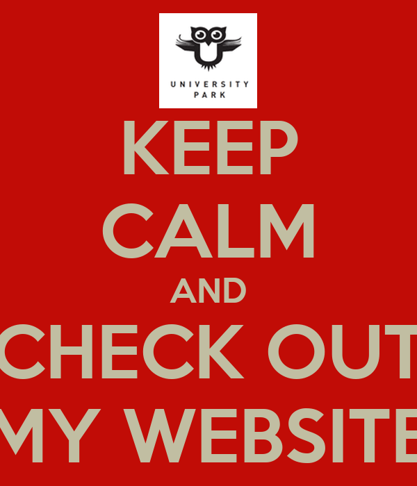 Keep Calm And Check Out My Website Poster  Timothy  Keep