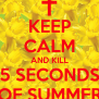 Keep Calm And Kill 5 Seconds Of Summer Poster Brendan
