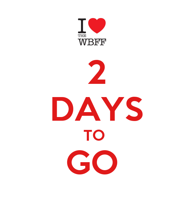 2 DAYS TO GO - KEEP CALM AND CARRY ON Image Generator