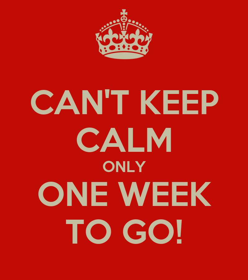 Can't Keep Calm Only One Week To Go! Poster  Kitusca