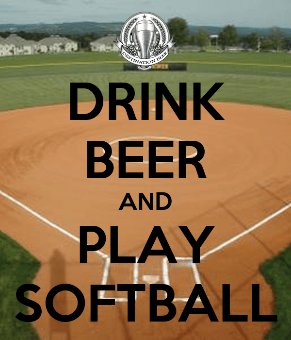 DRINK BEER AND PLAY SOFTBALL Poster Gman Keep Calm O Matic