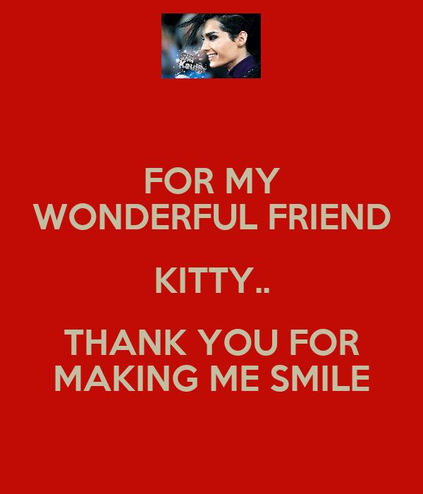 for my wonderful friend