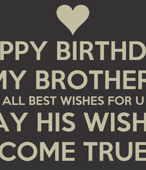 Keep Calm And Happy Birthday Brother