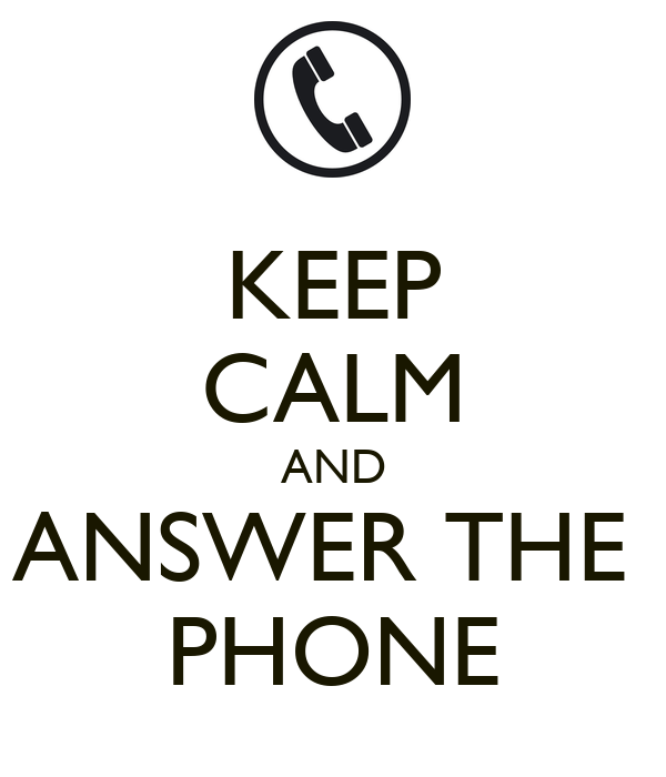 Answer The Phone: Greetings To Answer The Phone