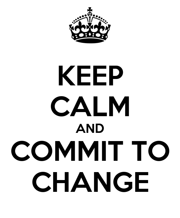 Image result for commit to change