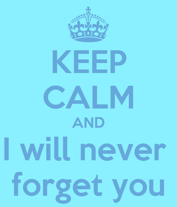 Image result for i will never forget you