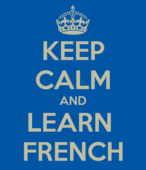 Image result for stay calm and study french