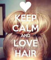 calm and love hair poster