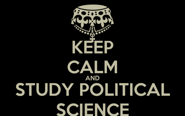 Calm And Study Political Science Poster