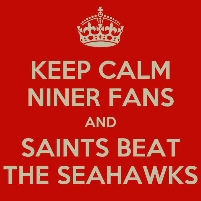 Keep Calm And Beat Seahawks