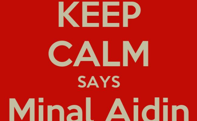 Keep Calm Says Minal Aidin Wal Faizin Poster Vina Keep