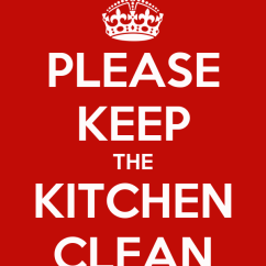 Kitchen Aprons Farm Sinks For Kitchens Please Keep The Clean Poster | Tara Calm-o ...