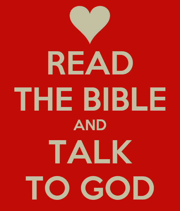 READ THE BIBLE AND TALK TO GOD Poster Maria Keep Calm