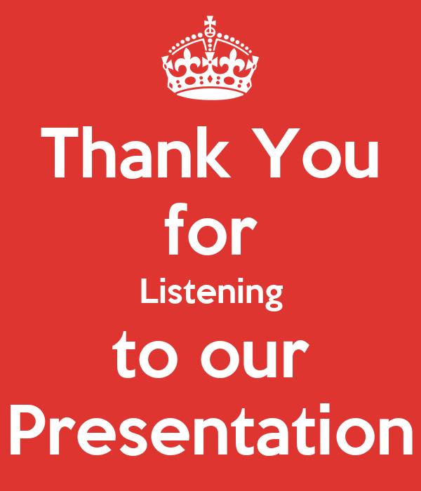 Thank You for Listening to our Presentation Poster   Erika   Keep Calm-o-Matic