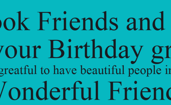 To My Facebook Friends And To My Family Thank You For All